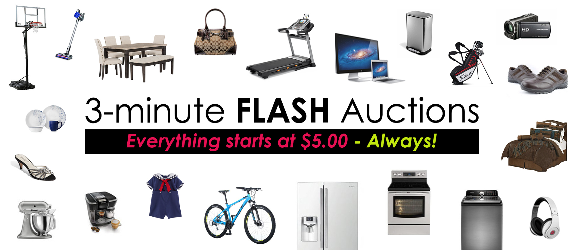 3-minute Flash Auctions