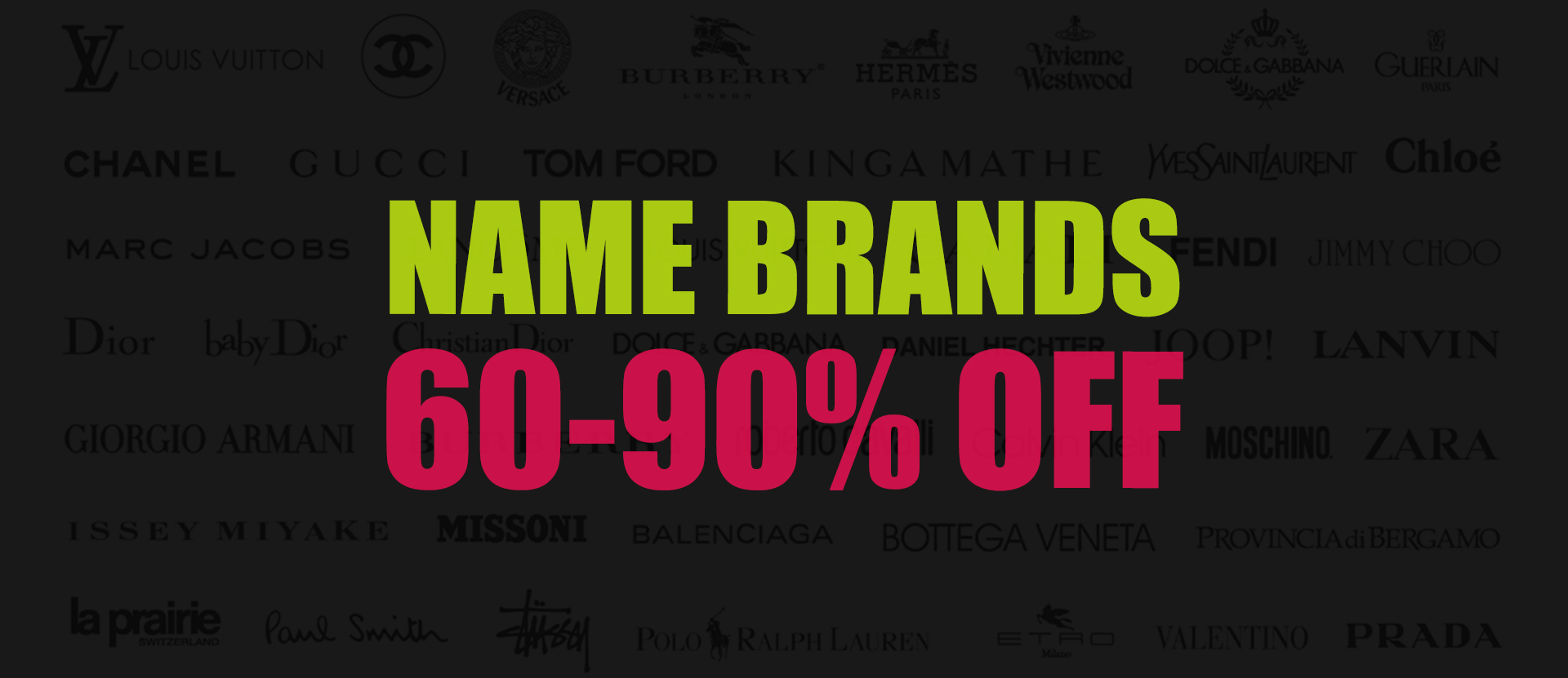 Name-Brands 60-90% off